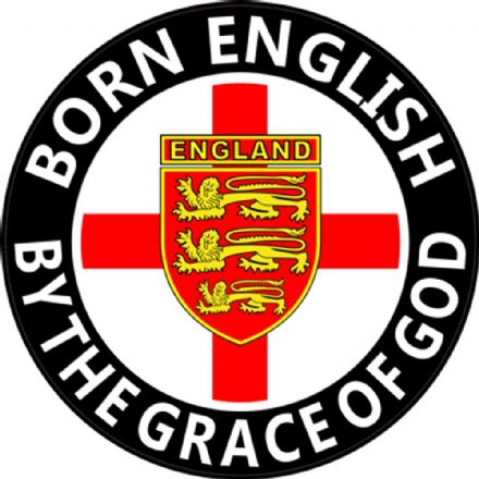"""Born English"" Round Rear Window Sticker"